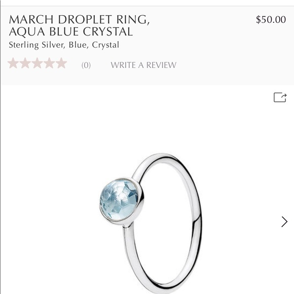 3079eaee2 Pandora Jewelry | The March Droplet Ring By | Poshmark